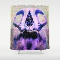 bones Shower Curtains featuring BONES by kikkerART