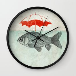 Umbrella Goldfish Wall Clock