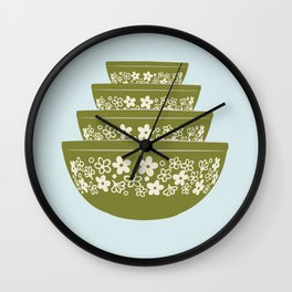 Spring Blossom Pyrex Wall Clock