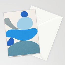 Blue Scoop \\ Abstract Stationery Cards