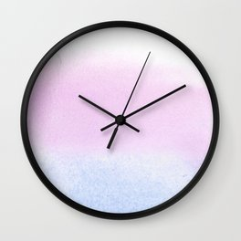 Trans Watercolor Wash Wall Clock