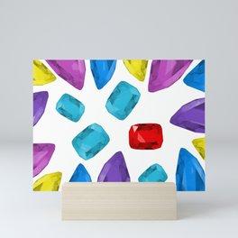 Ruby One Crystal - Precious Stones Abstraction Mini Art Print