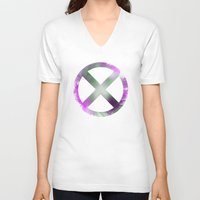 x men V-neck T-shirts featuring X-Men by Trey Crim