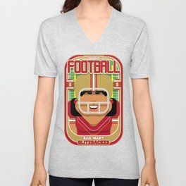 American Football Red and Gold - Hail-Mary Blitzsacker - Indie version Unisex V-Neck