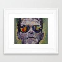 frankenstein Framed Art Prints featuring Frankenstein by Michael Creese