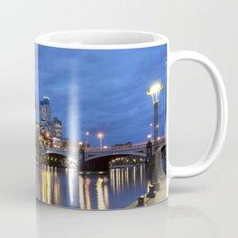 I - Skyline of Melbourne, Australia across the Yarra River at night Coffee Mug