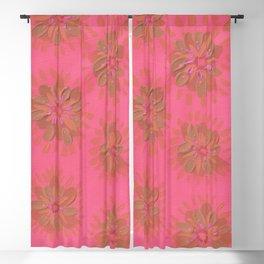 Cranberry Petal Rose Blackout Curtain