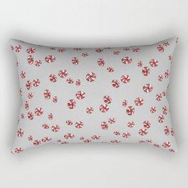 Peppermint Candy in Grey Rectangular Pillow