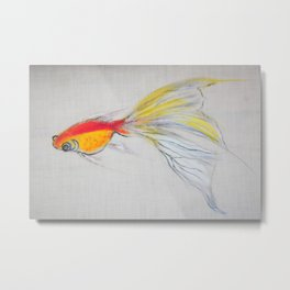 Goldfish Pond (close up#1) #society6 #decor #buyart Metal Print