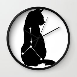 cancer cat Wall Clock