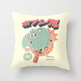 Kaiju Ice pop Throw Pillow