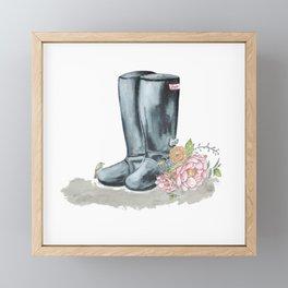 Spring Rain Boots Framed Mini Art Print