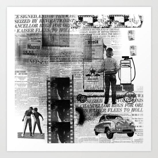 paper billy cart Art Print