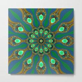 Fractal jewel mandala Metal Print