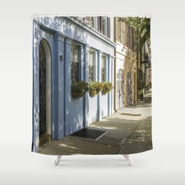 Charleston SC No. 4  Rainbow Row Shower Curtain