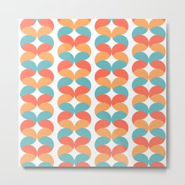Colorful abstract round geometric rows Metal Print