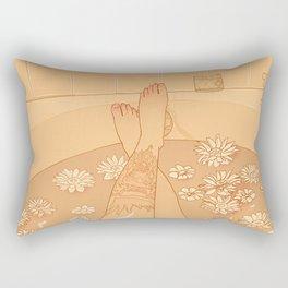 Flower Bath 10 (censored version) Rectangular Pillow