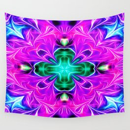 Purple Dynamic Energy Wall Tapestry