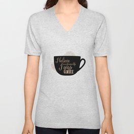 Gilmore Girls Inspired - I believe in a former life I was coffee Unisex V-Neck