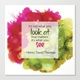 Inspirational Quote - Thoreau - Alcohol Ink Canvas Print