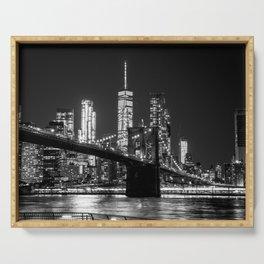 Brooklyn Bridge & WTC Serving Tray
