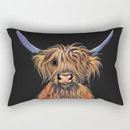 Scottish Highland Cow ' NED ' by Shirley MacArthur Rectangular Pillow