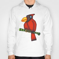 cardinal Hoodies featuring Cardinal by Striped Aardvark