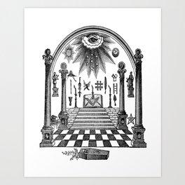 The Pillars Art Print
