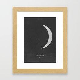 New Moon - minimal poster Framed Art Print