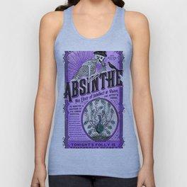 Vintage 1871 Purple Absinthe Liquor Skeleton Elixir Aperitif Cocktail Alcohol Advertisement Poster Unisex Tank Top