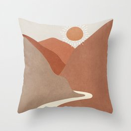 Minimalistic Landscape I Throw Pillow