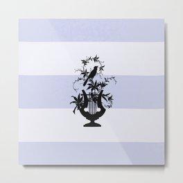Lavender Estate Bird  & Yacht Stripe Metal Print
