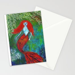 Orange You Glad To Be A Mermaid Stationery Cards
