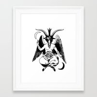 baphomet Framed Art Prints featuring BAPHOMET by carolin walch