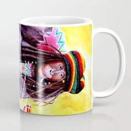 Monkey Smoking Outsider Art Painting Coffee Mug