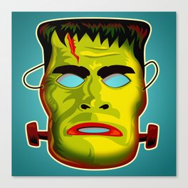 Frankenstein Monster Mask Canvas Print