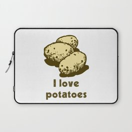 I Love Potatoes Quote Laptop Sleeve