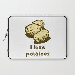 I Love Potatoes Quote Laptop Sleeve