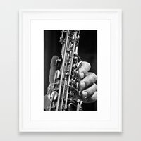 saxophone Framed Art Prints featuring Saxophone by ramonaorganfineart