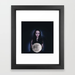 If you are the tide, then I am the moon to your sea Framed Art Print