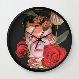 More than human (Bowie) Wall Clock