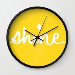 Shine on Yellow Wall Clock