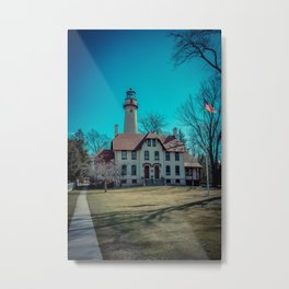 Evanston Illinois Gross Point Lighthouse Lake Michigan Light Station Metal Print