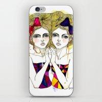 gemini iPhone & iPod Skins featuring Gemini by D.U.R.A