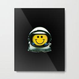 Happy Astronaut Metal Print
