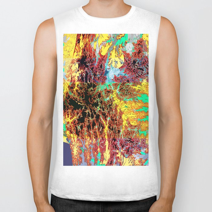 deep jungle II Biker Tank