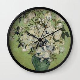Vase of Roses Wall Clock