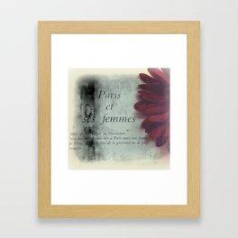 i heart paris Framed Art Print