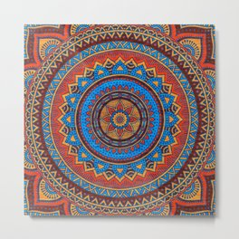 Hippie mandala 73 Metal Print