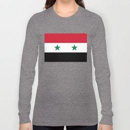 Flag of Syria, High Quality image Long Sleeve T-shirt